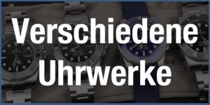 Verschiedene Uhrwerke